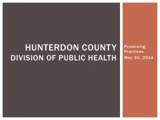 Hunterdon County  Division of Public Health