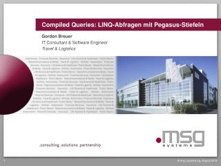 Compiled Queries : LINQ-Abfragen mit Pegasus-Stiefeln