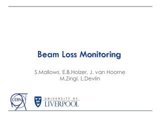 Beam Loss Monitoring