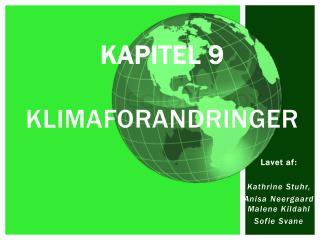 Kapitel 9 Klimaforandringer