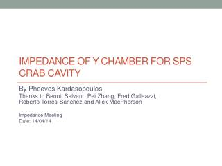 Impedance of  Y-Chamber for  SPS Crab  cavity