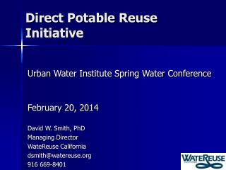 Direct Potable Reuse  Initiative