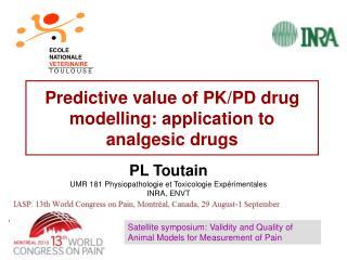Predictive value of PK