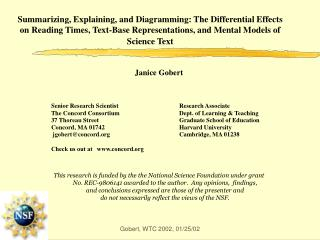 Summarizing, Explaining, and Diagramming: The Differential Effects on Reading Times, Text-Base Representations, and Ment