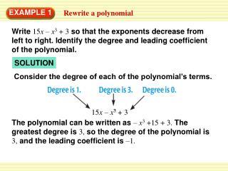 Rewrite a polynomial