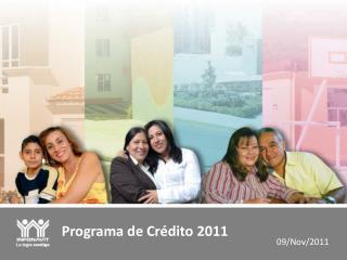 Programa de Cr�dito 2011