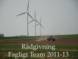 R�dgivning Fagligt  T eam 2011-13