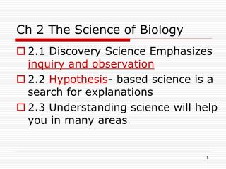 Ch 2 The Science of Biology