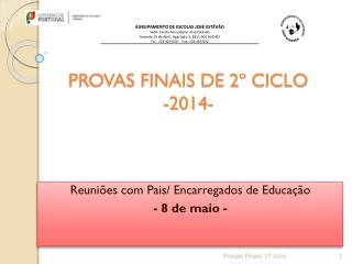 PROVAS FINAIS DE 2º CICLO -2014-
