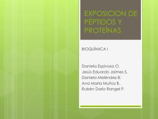 EXPOSICION  DE PÉPTIDOS Y PROTEÍNAS