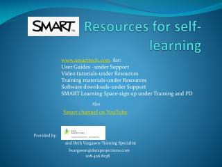 Resources for self-learning
