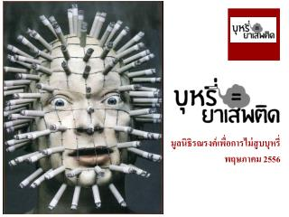 มูลนิธิรณรงค์เพื่อการไม่สูบบุหรี่ พฤษภาคม  2556