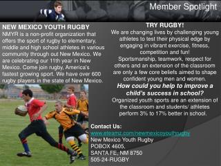 NEW MEXICO YOUTH RUGBY