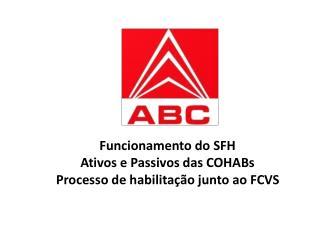 Agente Promotor e Agente Financeiro do Sistema Financeiro de Habitação - SFH.