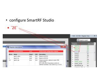 configure SmartRF Studio