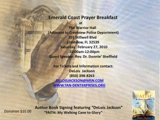 "Author Book Signing featuring ""DeLois Jackson""           ""FAITH: My Walking Cane to Glory"""