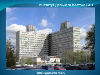 Институт Дальнего Востока РАН