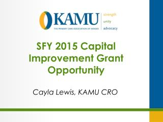 SFY 2015 Capital Improvement Grant Opportunity
