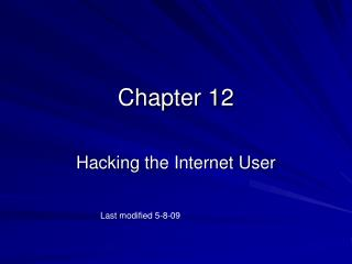 Hacking the Internet User