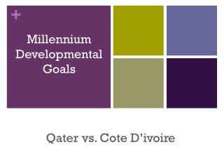 Millennium Developmental Goals
