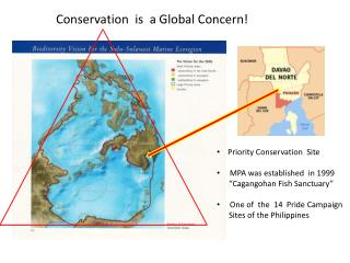 """Priority Conservation  Site  MPA was established  in 1999       """" Cagangohan  Fish Sanctuary"""""""