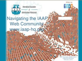 Navigating the IAAP Web Community  iaap-hq