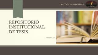 Repositorio institucional  de tesis