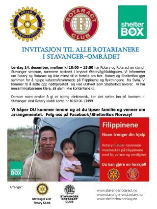 Invitasjon til alle rotarianere  i  Stavanger-området