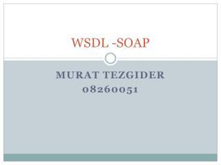 WSDL -SOAP