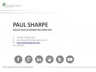 PAUL SHARPE GROUP SALES & MARKETING DIRECTOR