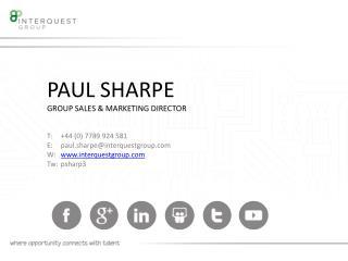 PAUL SHARPE GROUP SALES & MARKETING DIRECTOR