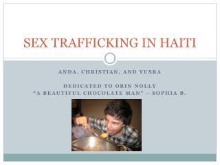 SEX TRAFFICKING IN HAITI