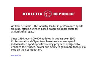 ATHLETIC REPUBLIC…