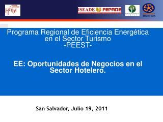 Programa Regional de Eficiencia Energética en el Sector Turismo -PEEST-