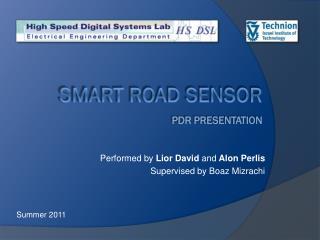 Smart Road Sensor PDR presentation