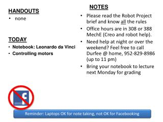 Please read the Robot Project brief and know  all  the rules
