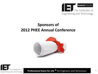 Sponsors of 2012 PHEE Annual Conference