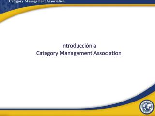 Introducci�n a  Category  Management  Association