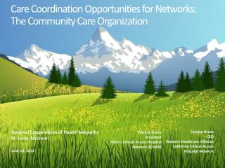 Care  Coordination Opportunities for Networks: The Community Care  Organization