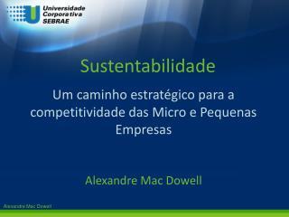 Um caminho estrat�gico para a competitividade das Micro e Pequenas Empresas Alexandre  Mac  Dowell