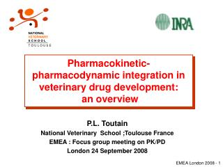 Pharmacokinetic-pharmacodynamic integration in veterinary drug development:  an overview