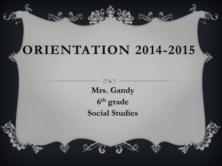 Orientation  2014-2015