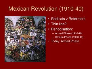 Mexican Revolution 1910-40