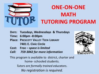 ONE-ON-ONE MATH TUTORING PROGRAM