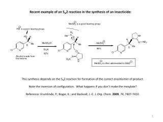 Recent example of an S N 2 reaction in the synthesis of an insecticide: