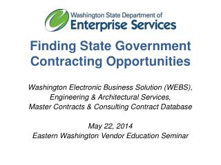 Finding  State Government Contracting Opportunities