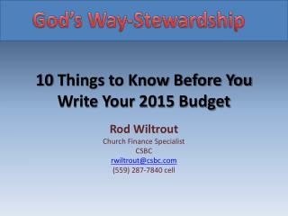 10 Things to Know Before You Write  Your 2015 Budget