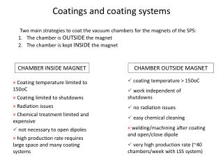 Coatings  and  coating systems