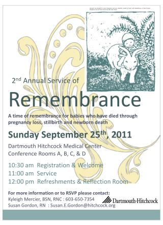 2 nd Annual Service of  Remembrance