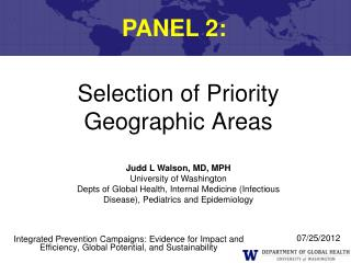 Selection of Priority Geographic Areas